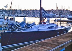 J/88 Blue Flash- docks at Newport Beach