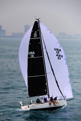 J/88 sailing fast on Chicago Mackinac Race