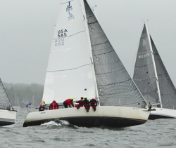 J/105 sailing Edlu Race