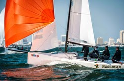 J/70 sailing off St Petersburg, Florida