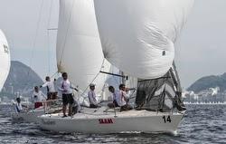 J/24s sailing off Brazil