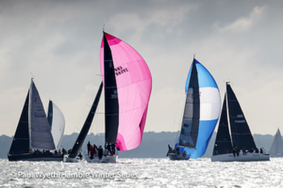 J/88s sailing Hamble Winter Series