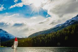 J/70 sailing in St Moritz