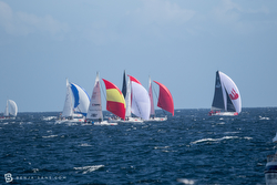 J/105s reaching in Chiloe regatta in Chile