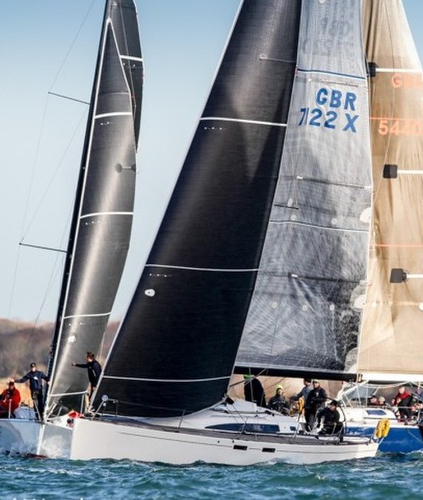 J/112E sailing Hamble winter series