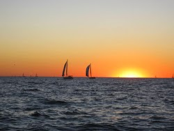 Harvest Moon Race offshore sunset