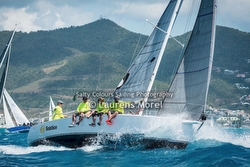J/105 sailing off St Maarten