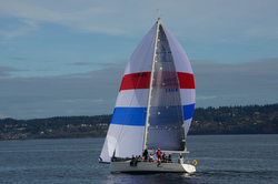 J/133 sailing off Seattle