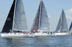 J/120s start Annapolis to Newport Race