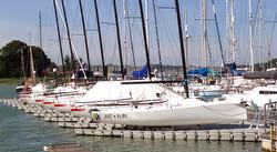 J/70s on DrySail docks