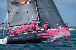 J/88 sailing fast at St Maarten