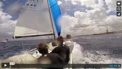 J/70 sailing fast off Malta in Mediterranean