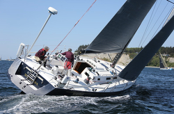 J/145 sailing Race to Straits regatta