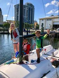 J/70 Braun family sailing St Petersburg YC series