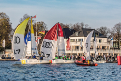 J/70s sailing on Hamburg's Alster Lake