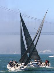 J/111s sailing San Francisco Bay