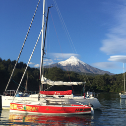 J/70 sailing on Lago Llanquihue