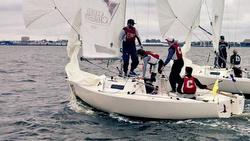 J/22s sailing College Match Race Nationals- Charleston, SC