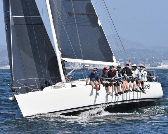 J/120 sailing off San Diego, CA