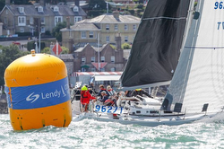 J/109 sailing off Cowes