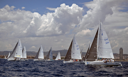 J/80 sailing Spanish Nationals- off Barcelona