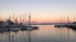 Mackinac Island harbor- finish at dawn