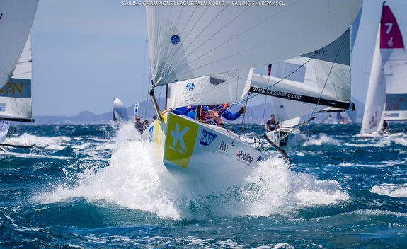 J/70s sailing fast downwind off Palma