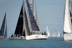 J/122 sailing Round Island Race