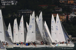 J/24s sailing on Lake Garda- Riva del garda