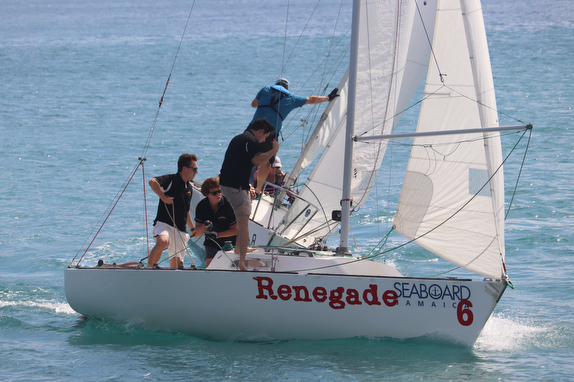 J/22s sailing off Montego Bay, Jamaica