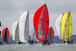 J/109s sailing at Cowes Race Week