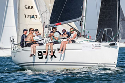 J/97 sailing Round Island Race