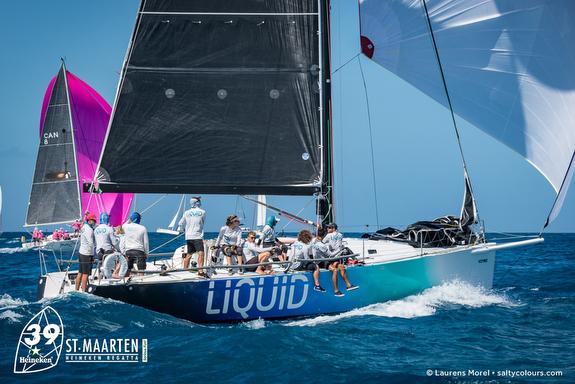 J/122 sailing Caribbean