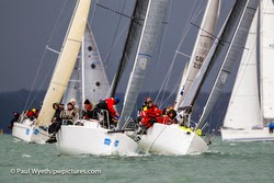 J/88 family speedster- sailing Hamble on Solent