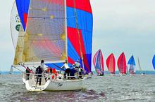 J/109 and J/35 sail Susan Hood Trophy race