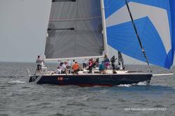 J/120 sailing off Cleveland