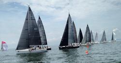 J/109s sailing Cedar Point