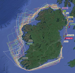 Round Ireland race track map