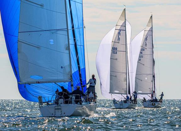 J/105s sailing off Marblehead, MA
