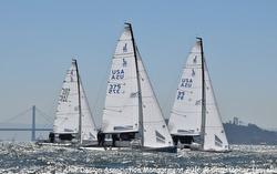 J/70 Worlds- sailing upwind