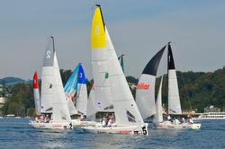 J/70s racing in Swiss Sailing League in Zurich, Switzerland