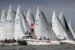J/80s sailing World Championship- Hamble, England