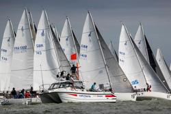 J/80s sailing World Championship- Hamble, England
