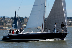 J/46 Riva sailing Oregon Offshore race