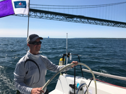Skipper Roesch on way to winning J/111 class in Chicago Mackinac Race