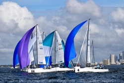 J/70 sailboats offshore