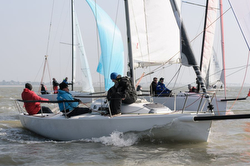 J/80 one-design family sailboat- sailing Helly Hansen Warsash spring series