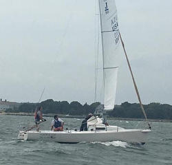 J80 sailing Buzzards Bay regatta