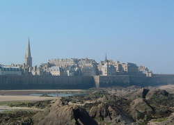 The walled seaside city of St Malo, France