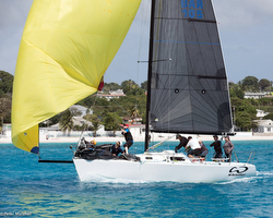 J/105 sailing Barbados Sailing Week